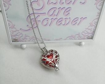 Valentines Vintage Interchangeable Filigree Heart Pendant