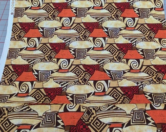 Sunset Pueblo Pottery Cotton Fabric from Michael Miller