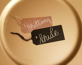 Hand lettered gift tags