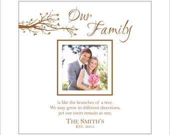 Personalized Family Photo Album, Picture Album, Holds 200 4x6 Photos, Faux Leather, Great Gift! Our Family, Like the Branches of a Tree