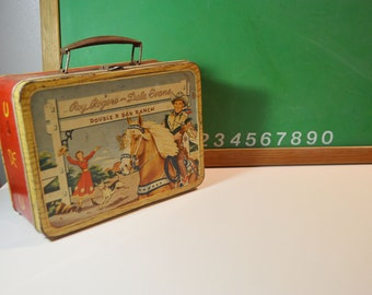 Vintage Roy Rogers and Dale Evans Metal Lunchbox/No Thermos