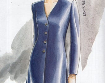 Free Us Ship Sewing Pattern Vogue 9187 Ultra EZ Top Skirt Dress Retro 1990s 90's Size 6 8 10 12 14 16 Bust 30.5 31.5 32.5 34 36 38 Uncut