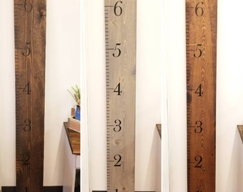 6' Growth Chart, Wood Ruler, Height Chart, Baby Shower, Giant Ruler, Rustic