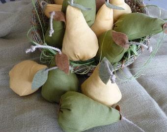 Pear catnip toy.