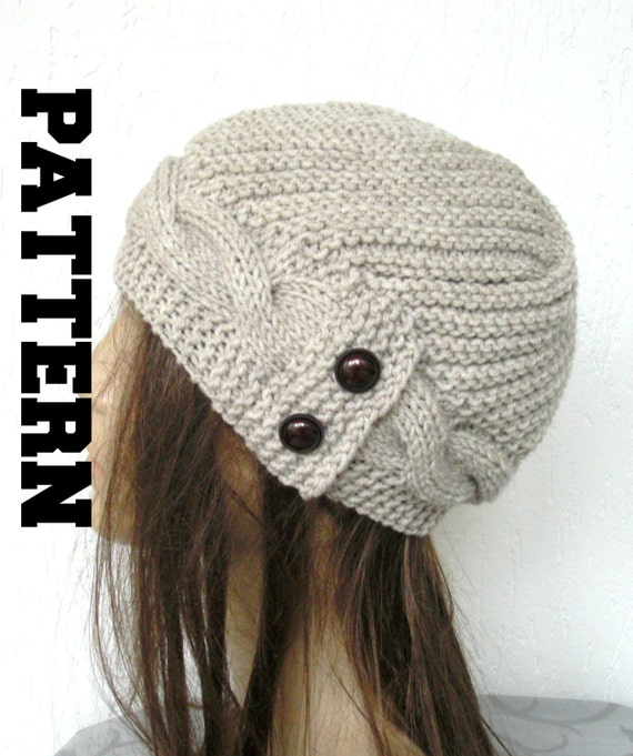 Diy Winter Knitting Pattern Knit Hat Digital Knitting Pattern Pdf