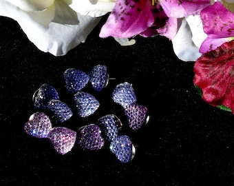 Purple Heart Thumbtacks Push Pins Button Tacks,  Sparkle Purple Heart Thumb Tacks Pushpins Button Tacks, Valentines Day Gift, Gift For Her