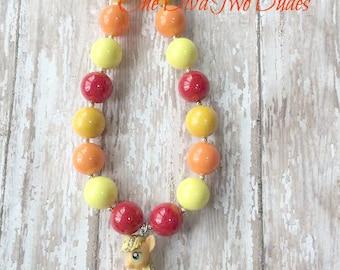 MLP Apple Jack chunky necklace