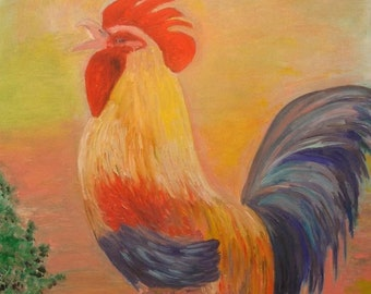 1 Rooster Greeting Card with Envelope Included (3 x 5)