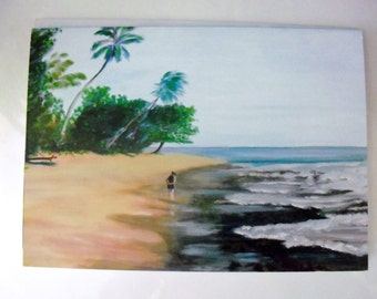 Four Art Cards with a select views of Rincon Puerto Rico