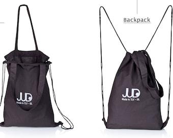 Black canvas rucksack tote convertible backpack SALE black tote bag shopper bag drawstring backpack judtlv canvas backpack hipster backpack
