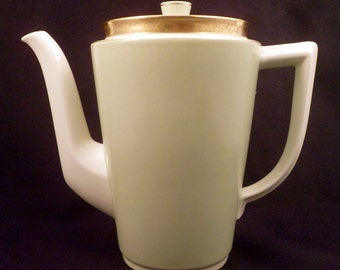 Royal Copenhagen Dagmar Pattern Coffee Pot, 1930's Pale Green