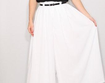White Palazzo pants Women pant skirt Summer pants Wedding outfit