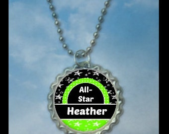 Personalized Allstar Necklace, softball,  All-stars, all-star, all-star necklace, all star prize, all star medals, all star tournament
