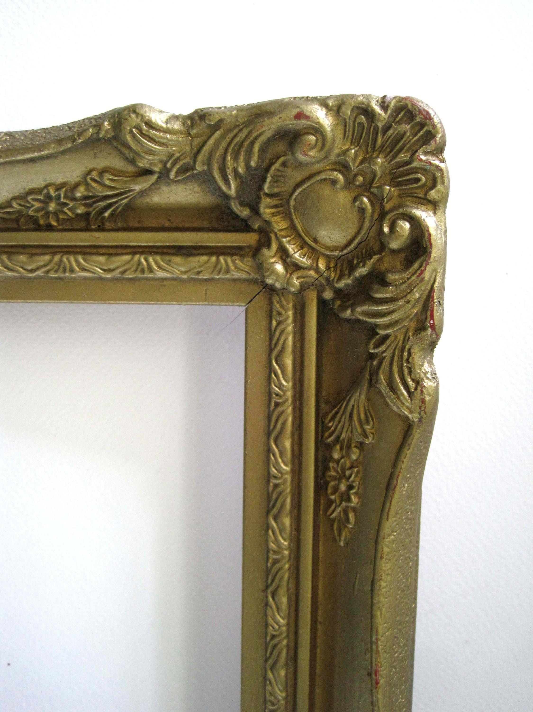 Vintage estilo barroco francés marco oro Boho, 16 x 14, marco de ...