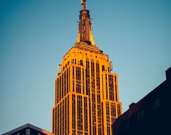 Golden Empire State Building