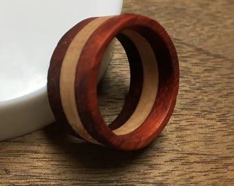 Handmade Layered Wood Ring