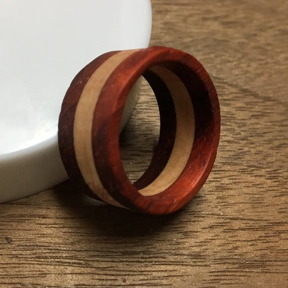 Handmade Layered Wood Ring