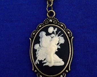 Fairy Cameo Necklace - Free Shipping