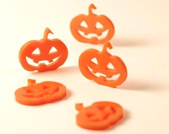 2 pcs Pumpkin,Halloween, Laser Cut Acrylic, Jewelry, Pedant