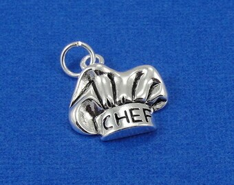 Chef Hat Charm - Silver Baker's Chef Hat Charm for Necklace or Bracelet