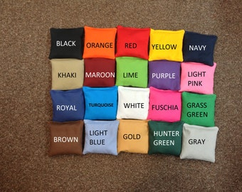 Cornhole Bags - Set of 8: 4 each  2 colors. ACA Regulation. Fast and Free Shipping! You Pick 2 Colors.