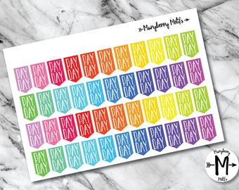 Pay Day Flags for Planners or Calendars!