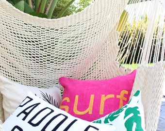 Paddle Out Pillow Surf Style Pillow Surf Decor Surfing Decorations Endless Summer Stand Up Paddle Pillow Surfer Gift Beach House Airbnb