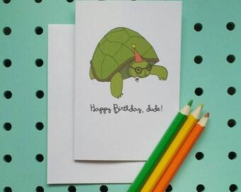 Tortoise Birthday card