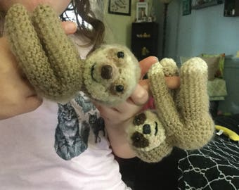 Crochet sloth two toed and three toed