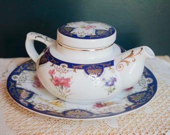 READY TO SHIP! Andrea By Sadek Biltmore Estate The Vanderbilt Service, Tea Pot, Underplate, Luncheon Plate,Floral Design,Bridal Shower, Gift