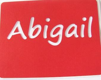 Abigail Card,  Abigail Birthday Card, Girls Name Card, Abigail Name Card, Personalised Card, Red and White Card