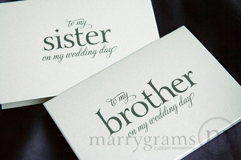 Wedding Card To My Brother Or Sister Siblings Of The Bride