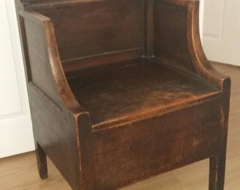 19th Century Country Box Seat