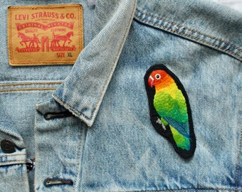 Lovebird Hand Embroidered Patch