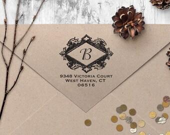 "Return Address Stamp, Vintage Address Stamp, Housewarming Gift, DIYer Gift, Wedding Gift. Custom Address Stamp 2"" x 2"""