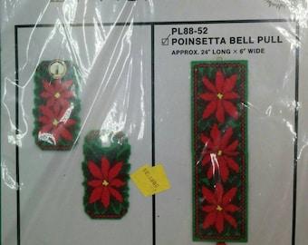 Poinsetta Plastic Canvas Bell Pull Kit