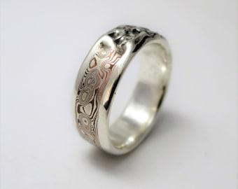 Master's mokume gane silver copper ring