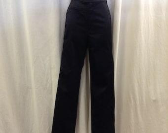 AUTH Versace Intensive Vintage 80s Black Satin Pants Size 0/XS