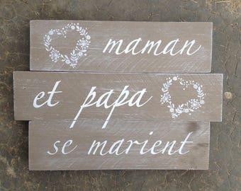 Panel Panel painting pallet, wedding decoration, wedding, personalized wall decor