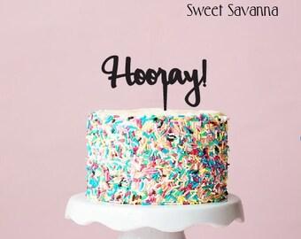 Hooray Cake Topper N2