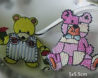 Wholesale Lot   20pcs  cartoon    bear embroidered iron on patch     5cm
