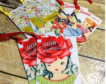 Mothers Day gift tag Mothers Day tags hang tags gift wrap tags gift wrapping Moms Day Gift for mum handmade gift tags