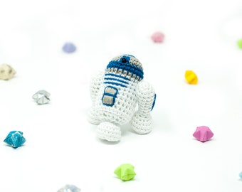 R2-D2 / Star Wars / Crochet / Amigurumi / Plushie / Miniature / READY TO SHIP