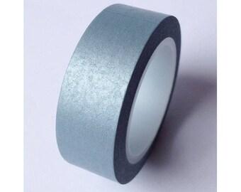 Washi tape (washi) - plain silver