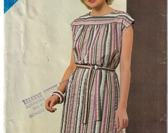 See Sew 5145, sewing pattern, size 8-12 womens' dress pattern, loose fitting straight dress, cap sleeves