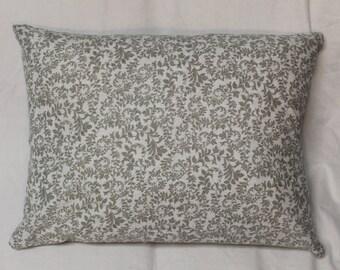 Gray and White Paisley Pillow throw