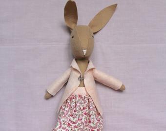 Winifred Rabbit - Handmade Felt Rabbit - Stuffed Rabbit