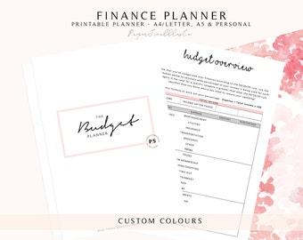 Budget Planner, Printable Budget Planner, Finance Planner, Financial Planner, Printable Planner, Finance Printable Planner Inserts