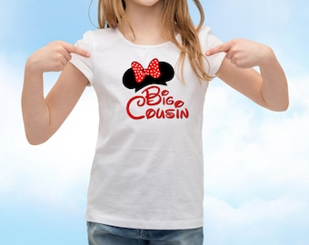 Big Cousin With Minnie Ears -Disney Family - INSTANT Download Printable Iron on Transfer Design ~ INSTANT Download Disney Vacation T shirt