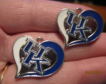 Set of 2 UK Inspired Heart Charms